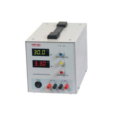 منبع تغذیه متغیر 0 تا 30 ولت 3 آمپر مدل  MICRO PS-90