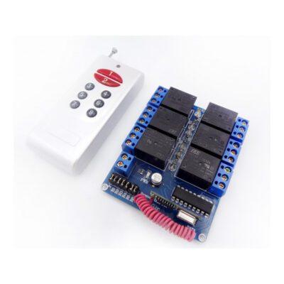 گیرنده 6 کانال کد فیکس به همراه ریموت با فرکانس 315Mhz