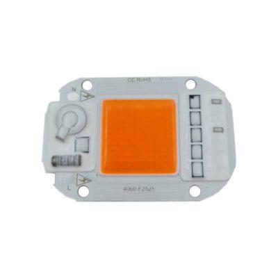 LED COB مخصوص رشد گیاه 220V 50W با درایور (آنتی شوک دار)