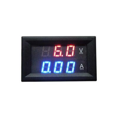 ماژول ولتمتر و آمپرمتر روپنلی دو رنگ قرمز و آبی