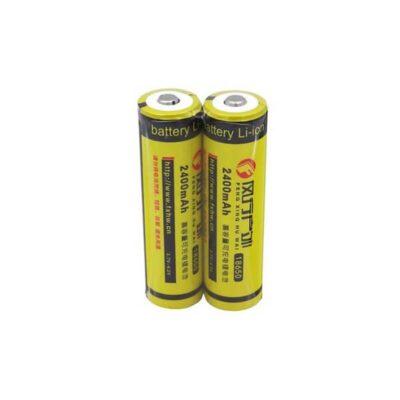 باتری لیتیوم یون 3.7 ولت 2400mAh سایز 18650 (FXHW)