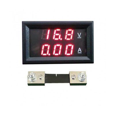ولتمتر آمپرمتر DC روپنلی 100 آمپر ( 0v-100v ) به همراه شنت