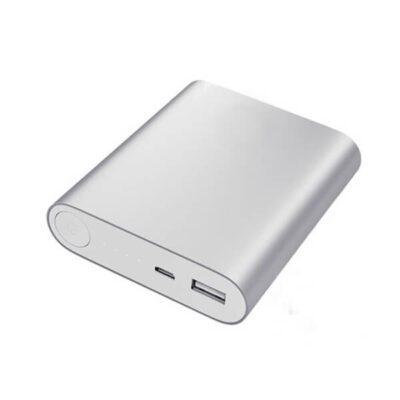 کیس پاوربانک 4 باتری دارای خروجی 5V 2A USB (نقره ای)