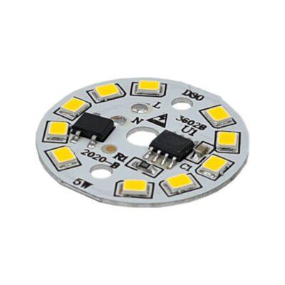 LED گرد آفتابی 220V 5W با درایور (۲۲۰ ولت ۵ وات)