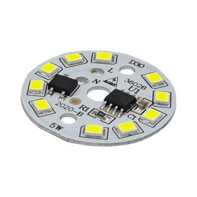 LED گرد مهتابی 220V 5W با درایور (۲۲۰ ولت ۵ وات)