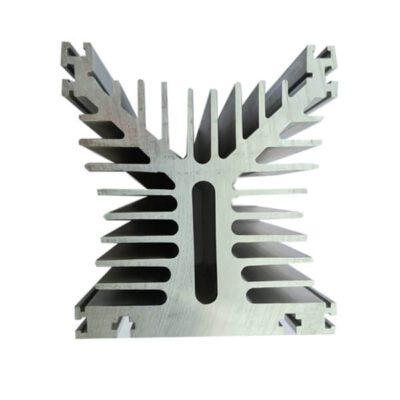 هیت سینک آلومینیومی 32 پره مکعبی بزرگ 125X125X136mm