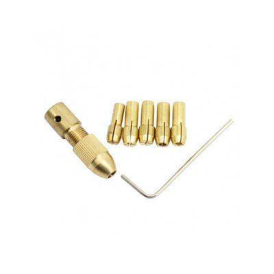 ست سه نظام پنج سر با قطر شفت 2.35mm و سایز مته 0.8 تا 3mm