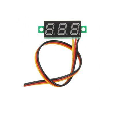 ماژول ولت متر دیجیتال 0 تا 100 ولت DC سه سیمه سایز 0.28 اینچ
