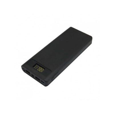 کیس پاوربانک ۸ باتری مشکی فست شارژ VQ8 دارای نمایشگر و ورودی ( Android / Apple / Type-C )