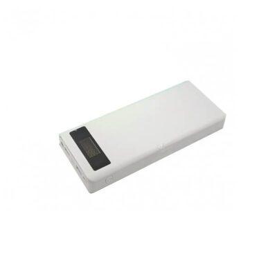 کیس پاوربانک ۸ باتری سفید فست شارژ VQ8 دارای نمایشگر و ورودی ( Android / Apple / Type-C )