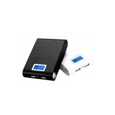 کیس پاوربانک دو خروجی USB مشکی با LCD و برد 4 باتری 12000mAh
