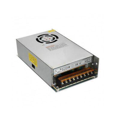 منبع تغذیه سوئیچینگ قاب فلزی 12V – 30A نوع فن دار