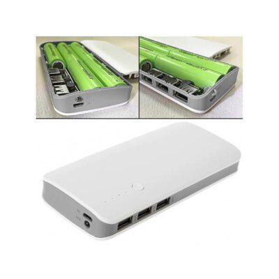 کیس پاور بانک سه خروجی USB به همراه برد (مدل 5 باتری)