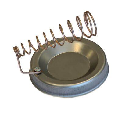 پایه هویه فلزی گرد نقره ای