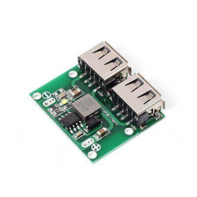 ماژول کاهنده DC به DC دارای ورودی 6V تا 26V و دو خروجی USB – 5V/3A