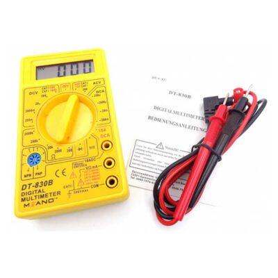 مولتی متر دیجیتالی مدل DT-830/832D زرد